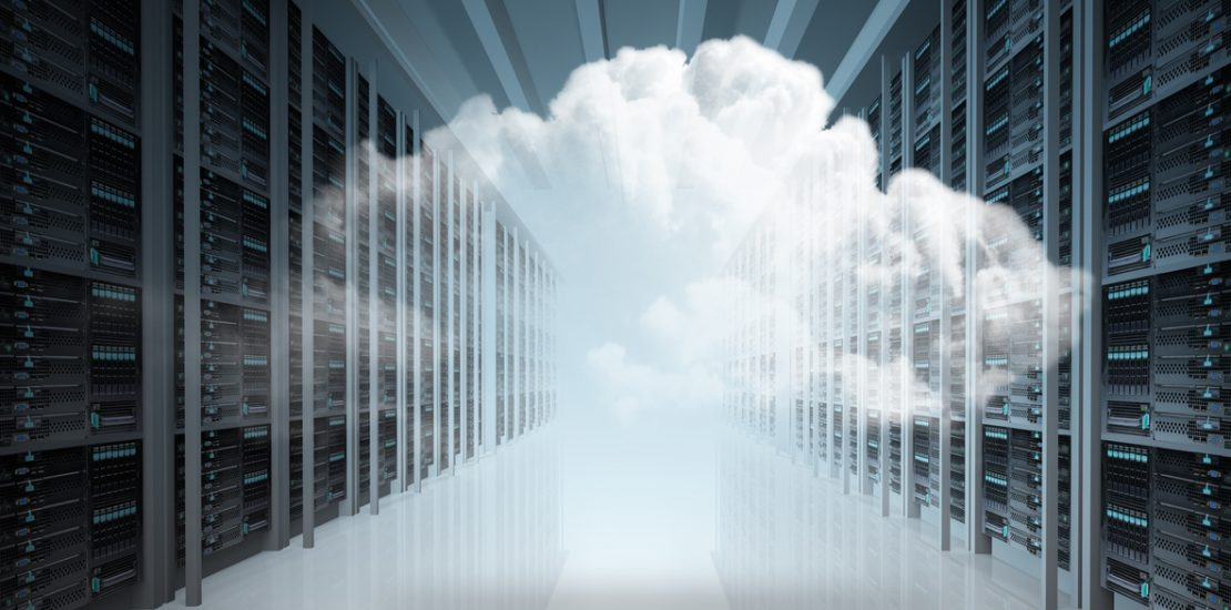 Cloud computing and computer networking concept